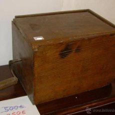 Antigüedades - Batidora antigua madera - 49342689