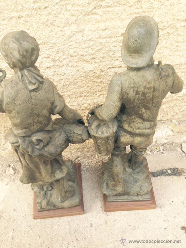 Antigüedades: PAREJAS DE FIGURAS CALAMINA - Foto 4 - 49344390