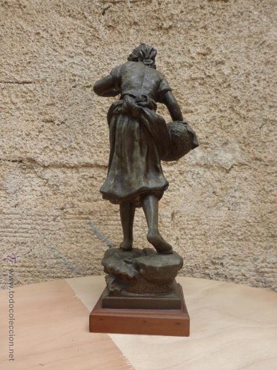 Antigüedades: PAREJAS DE FIGURAS CALAMINA - Foto 9 - 49344390