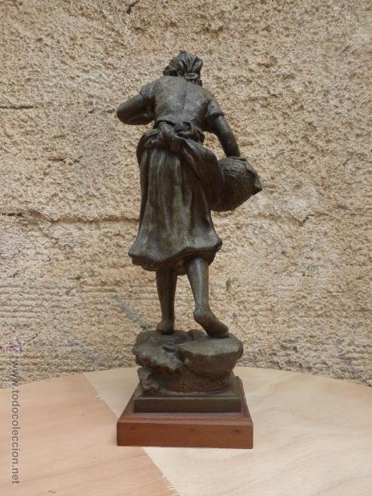 Antigüedades: PAREJAS DE FIGURAS CALAMINA - Foto 10 - 49344390