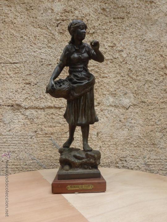 Antigüedades: PAREJAS DE FIGURAS CALAMINA - Foto 11 - 49344390