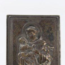 Antigüedades: IMAGEN DE SAN ANTONIO DI PADOVA EN METAL PLATEADO. Lote 49354279