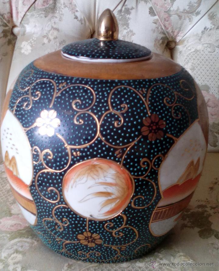 Antigüedades: JARRON TIBOR PORCELANA JAPONESA SATSUMA - Foto 2 - 49355706