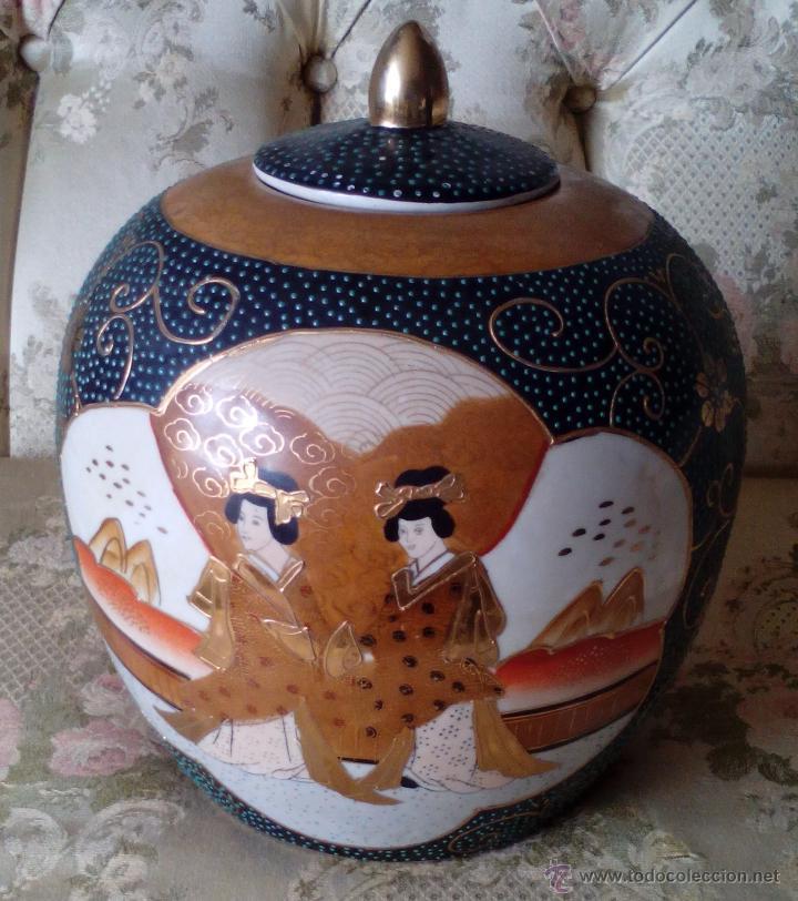 Antigüedades: JARRON TIBOR PORCELANA JAPONESA SATSUMA - Foto 3 - 49355706