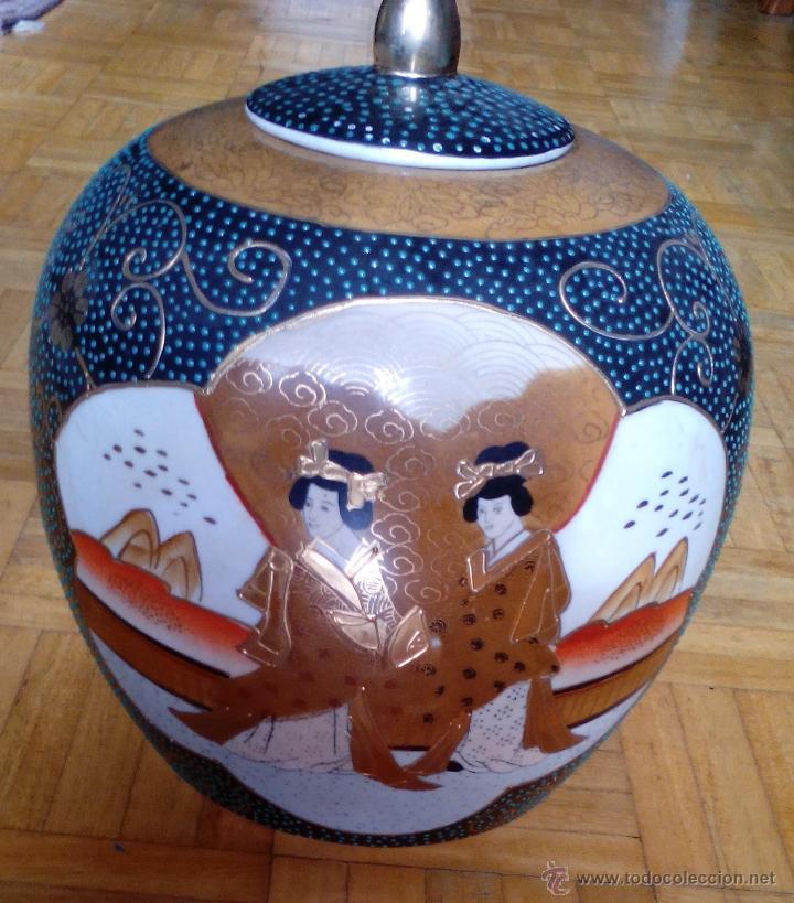 Antigüedades: JARRON TIBOR PORCELANA JAPONESA SATSUMA - Foto 4 - 49355706