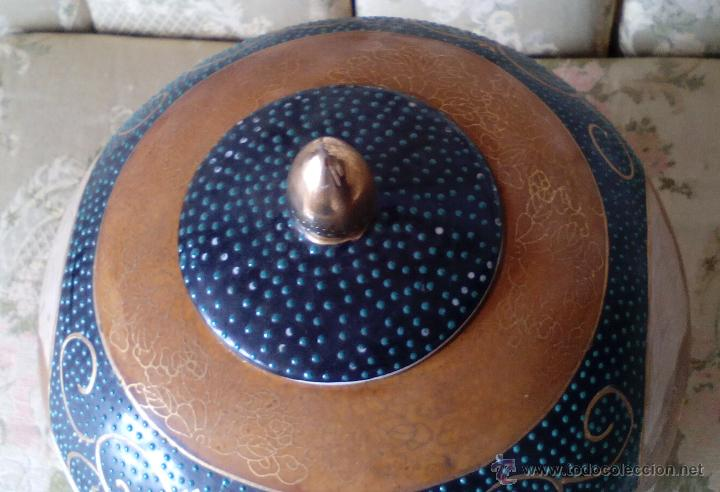 Antigüedades: JARRON TIBOR PORCELANA JAPONESA SATSUMA - Foto 6 - 49355706