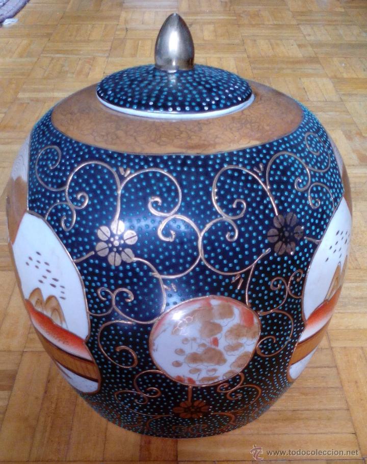 Antigüedades: JARRON TIBOR PORCELANA JAPONESA SATSUMA - Foto 7 - 49355706