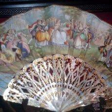 Antigüedades: ABANICO ISABELINO FRANCIA SIGLO XIX HACIA 1860. Lote 49357591