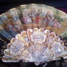 Antigüedades: ABANICO FRANCES ISABELINO SIGLO XIX HACIA 1860. Lote 49359659
