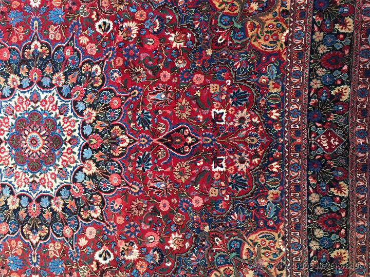 Antigüedades: 300x206cm Alfombra kaschmir, (persa) anudada a mano de lana pura - Foto 2 - 49359844