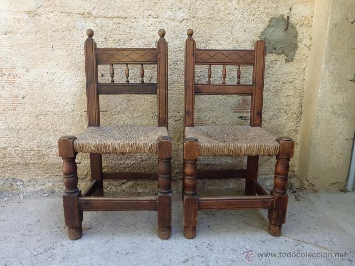 Sillas rusticas castellana comprar sillas antiguas en for Sillas de madera rusticas