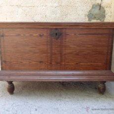 Antigüedades: BAUL EN PINOTEA. Lote 49367962