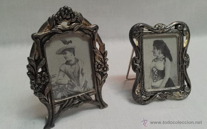 marcos antiguos pequeños de metal para retratos - Comprar Marcos ...