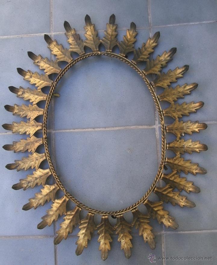 marco dorado para espejo en forma de sol xcm aprox de diametro