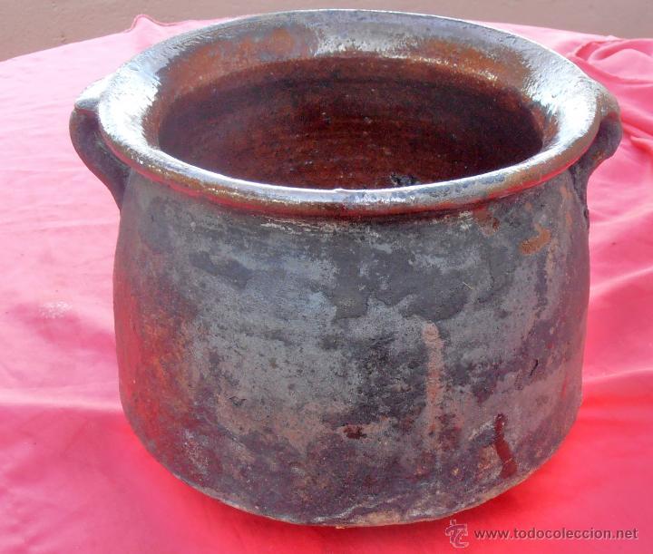ORZA DE BARRO, OLLA , RECIPIENTE PARA CONSERVAR CHORIZOS EN GRASA U ACEITE (Antigüedades - Porcelanas y Cerámicas - Otras)