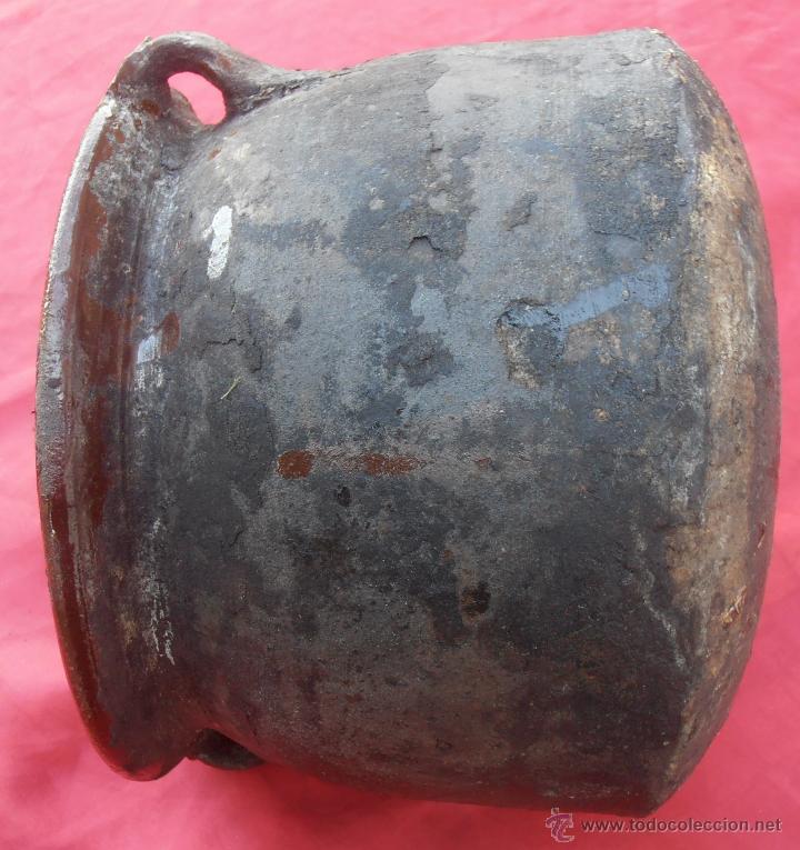 Antigüedades: ORZA DE BARRO, OLLA , RECIPIENTE PARA CONSERVAR CHORIZOS EN GRASA U ACEITE - Foto 5 - 49386980