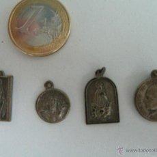 Antigüedades: LOTE DE 4 MEDALLAS RELIGIOSAS . Lote 49387488