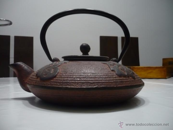 TETERA DE ACERO – ESTILO ASIÁTICO. (Antigüedades - Técnicas - Rústicas - Utensilios del Hogar)