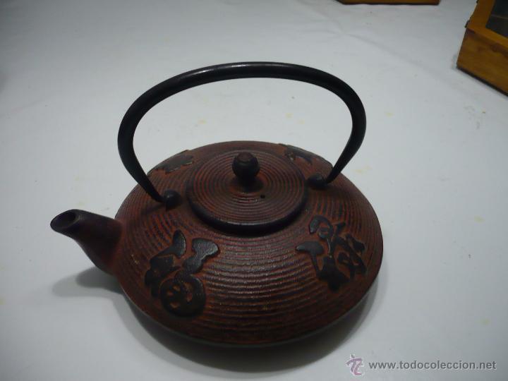 Antigüedades: TETERA DE ACERO – ESTILO ASIÁTICO. - Foto 2 - 49393718