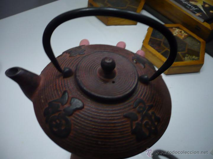 Antigüedades: TETERA DE ACERO – ESTILO ASIÁTICO. - Foto 3 - 49393718