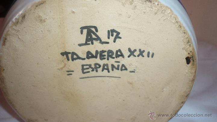 Antigüedades: PRECIOSA JARRA DE TALAVERA FIRMADA - Foto 5 - 49398158