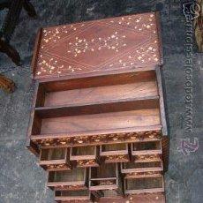 Antigüedades: PRECIOSO BARGUEÑO COLONIAL EN EXCEPCIONAL ESTADO. FINES SIGLO XIX. Lote 49398412