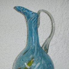 Antigüedades: PRECIOSO JARRÓN DE CRISTAL DE MURANO. (38 CM X 17 CM) CRISTAL SOPLADO.. Lote 49401193