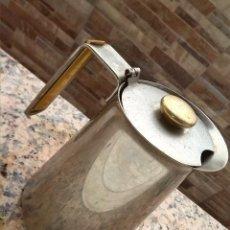 Antigüedades: ANTIGUA ACEITERA HOGAR COCINA, ACERO INOXIDABLE, MADE IN ITALY, ITALIA, 12 CM. Lote 49402790