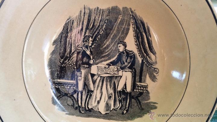 Antigüedades: antiguo plato de cartagena, escenas, sello inciso y tinta - Foto 2 - 49403395