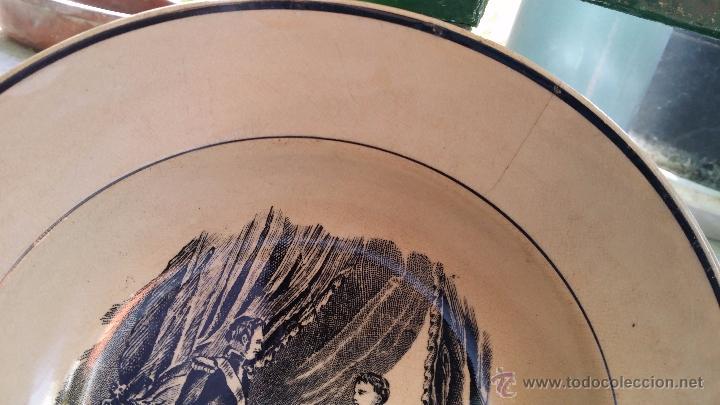 Antigüedades: antiguo plato de cartagena, escenas, sello inciso y tinta - Foto 3 - 49403395
