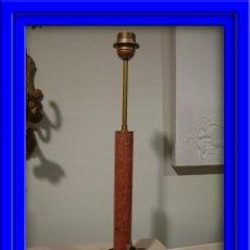 Antigüedades: LIQUIDACION PANTALLA DE COLUMNA DE MARMOL Y PIE CUADRADO METALICO. Lote 27410866