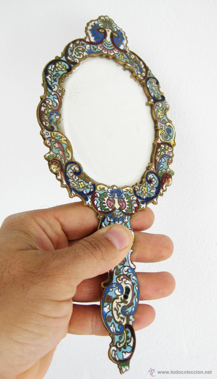 Maravilloso espejo de mano frances en bronce la comprar for Donde venden espejos