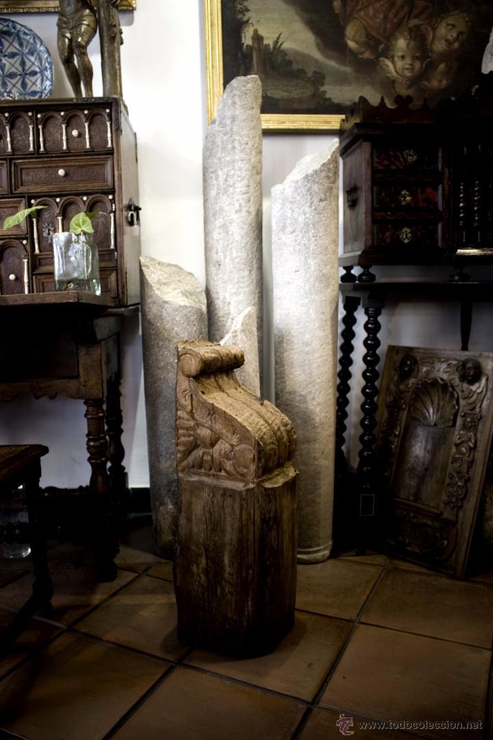 OFERTA! 6 MÉNSULAS DE MADERA TALLADA DEL SIGLO XVII (Antigüedades - Muebles Antiguos - Ménsulas Antiguas)