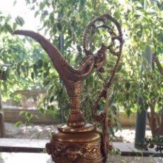 Antigüedades: ANTIGUO JARRON DE BRONCE, ESTILO ISABELINO, PRECIOSO.. Lote 49419327
