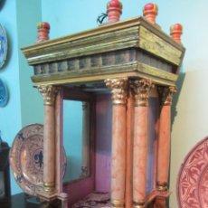 Antigüedades: ESPECTACULAR CAPILLA URNA BARROCA MADERA POLICROMADA SIGLO XVIII. Lote 49421199