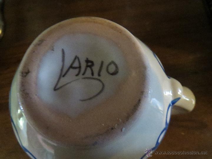 Antigüedades: JARRA CERAMICA LARIO CON FIRMA,CARAVACA.PINTADA A MANO. - Foto 2 - 49426489