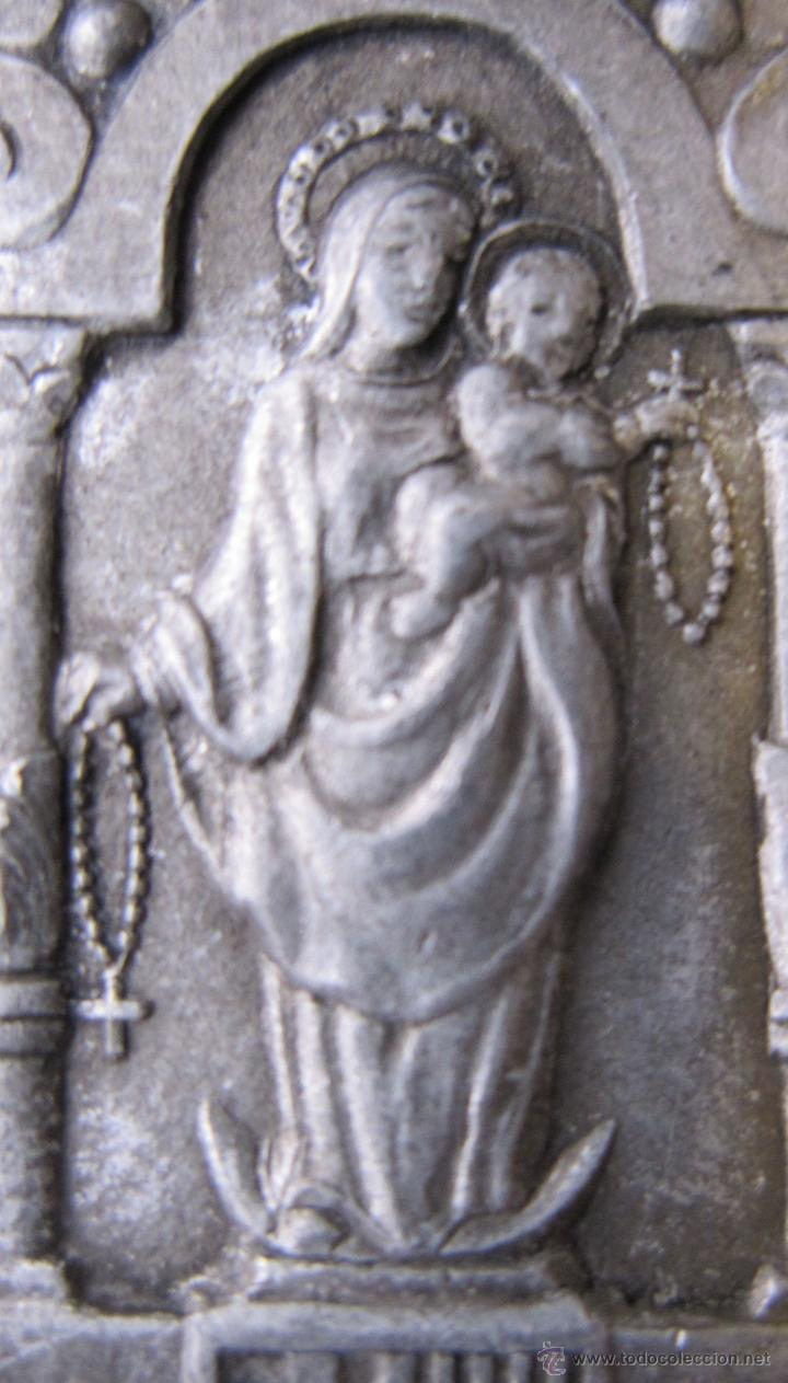 Antigüedades: ANTIGUA MEDALLA VERGE DEL ROSER. ROSARIO. ESCUDO BARCELONA. 5 X 3 CM - Foto 3 - 49430031