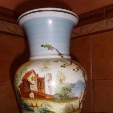 Antigüedades: PRECIOSO Y ANTIGUO JARRON PINTADO A MANO.. Lote 49435666