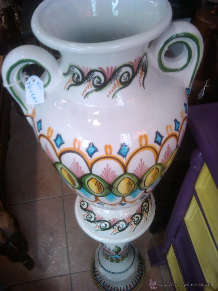 Antigüedades: PALACIO JARRON MODERNISTA , ART NOVEAU CERAMICA CON PIE , PEDESTAL COLUMNA venta directa 1840 - Foto 3 - 49442437