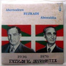 Discos de vinilo: ABERTZALEEN EUZKADI ABESTALDIA 1936-1976 EUZKADI'KO JAURLARITZA - EP EUZKADI 1976 FRANCIA BPY. Lote 137738024