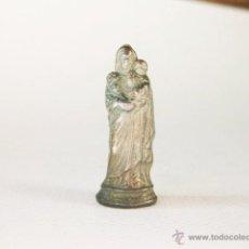 Antiquitäten - PEQUEÑA FIGURA DE LA VIRGEN MARIA DE LATON Y ESTAÑO. DE ADORNO O CASA DE MUÑECAS - 49456661