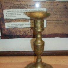 Antigüedades: ANTIGUO CANDELABRO DE BRONCE. Lote 49458502