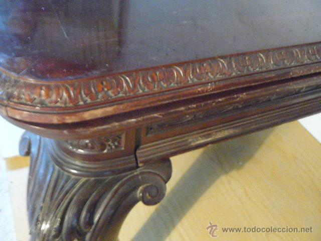 Antigüedades: MESA DE COMEDOR EXTENSIBLE DE CAOBA CUBANA - Foto 5 - 49473695