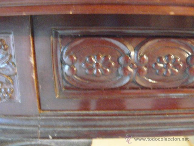 Antigüedades: MESA DE COMEDOR EXTENSIBLE DE CAOBA CUBANA - Foto 6 - 49473695