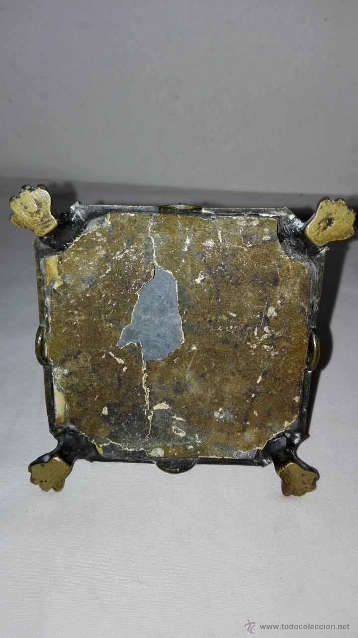Antigüedades: PAREJA DE CANDELEROS IMPERIO EN BRONCE - SIGLO XIX - Foto 7 - 49480693