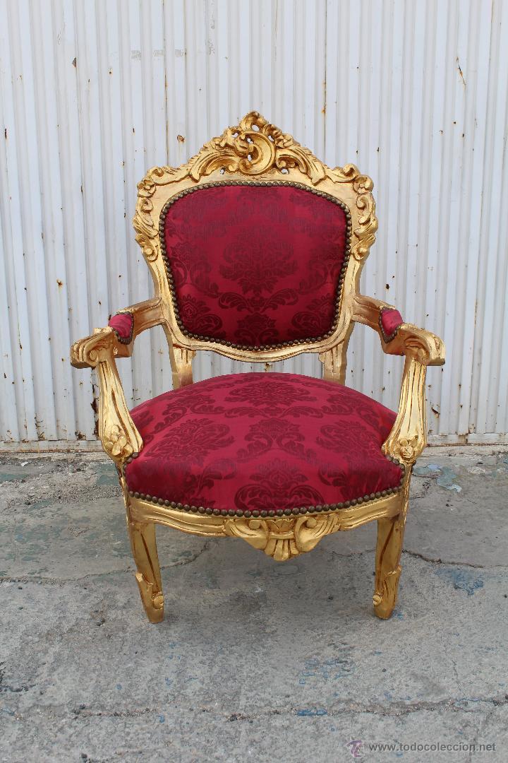 Sillon en madera tallada y dorada comprar sillones - Sillones de madera antiguos ...