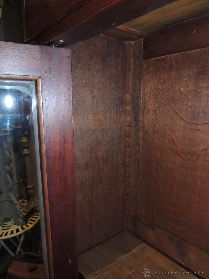 Antigüedades: PRECIOSO ARMARIO VITRINA DE CAOBA EPOCA LUIS FELIPE - Foto 11 - 44093432