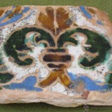 Antigüedades: AZULEJO ANTIGUO EN TECNICA DE ARISTA - SEVILLA / TRIANA. SIGLO XVI.. Lote 49491025