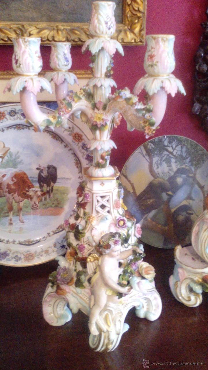 Guarnicion de porcelana meissen alemania siglo comprar - Porcelana inglesa antigua ...