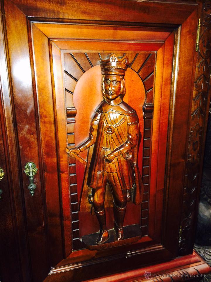 Antigüedades: MUEBLE AUXILIAR DE MADERA MACIZA - Foto 7 - 49493529